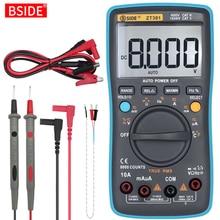 BSIDE 디지털 멀티 미터 8000 고정밀 True RMS 자동 범위 전류계 전압계 스마트 커패시터 온도 NCV Ohm Hz 테스터