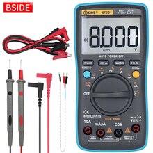 BSIDE dijital multimetre 8000 yüksek hassasiyetli True RMS otomatik aralığı ampermetre voltmetre akıllı kondansatör sıcaklık NCV Ohm Hz test cihazı