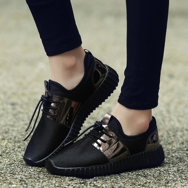 2020 mujer Zapatillas Zapatos casuales para mujeres vulcanizadas mujeres transpirables planos Unisex parejas zapatos plataforma talla grande 3
