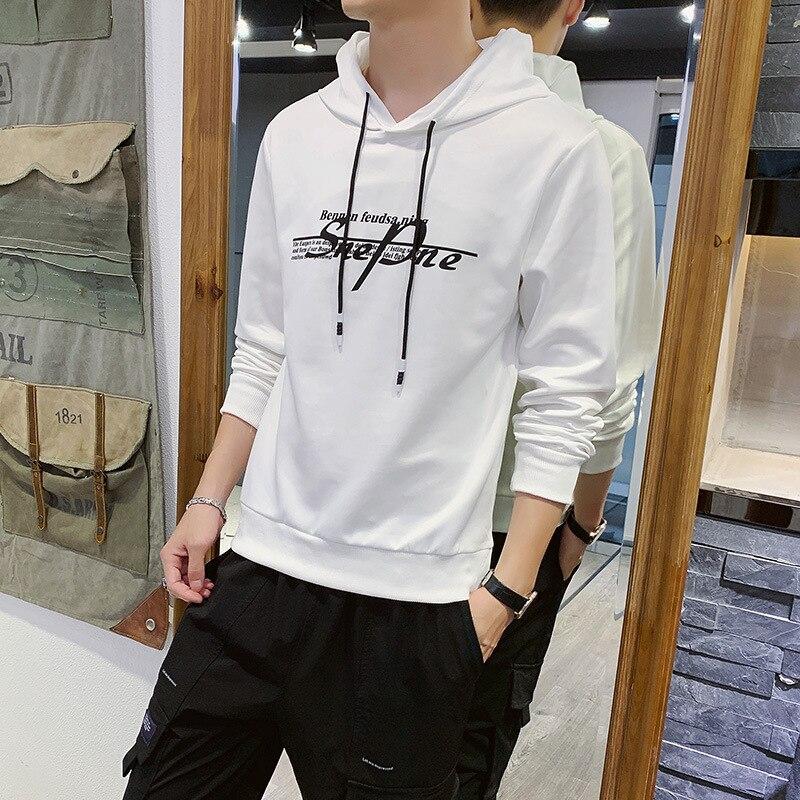 Hooded Youth MEN'S Hoodie Korean-style Trend Loose-Fit Printed Hoodie With Sleeves 2019 Autumn Men'S Wear