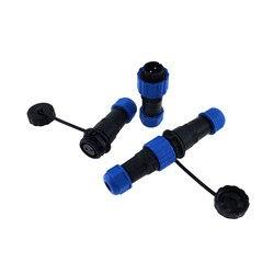 1 pçs sp16 à prova dwaterproof água conector de encaixe 2/3/4/5/6/7/9 pinos ip68 cabo de alimentação conector macho plugue e tomada fêmea