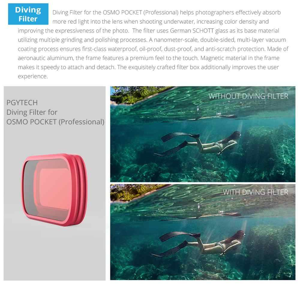 In Stock Osmo Pocket Dive Case Housing Waterproof Case Protective Diving Case Shell 60M Depth Camera Osmo Pocket Accessories