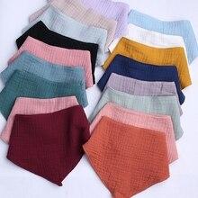 Burp Cloth Scarf Towel-Bandana Cotton Bibs Shower-Gifts Feeding Saliva Triangle Infant