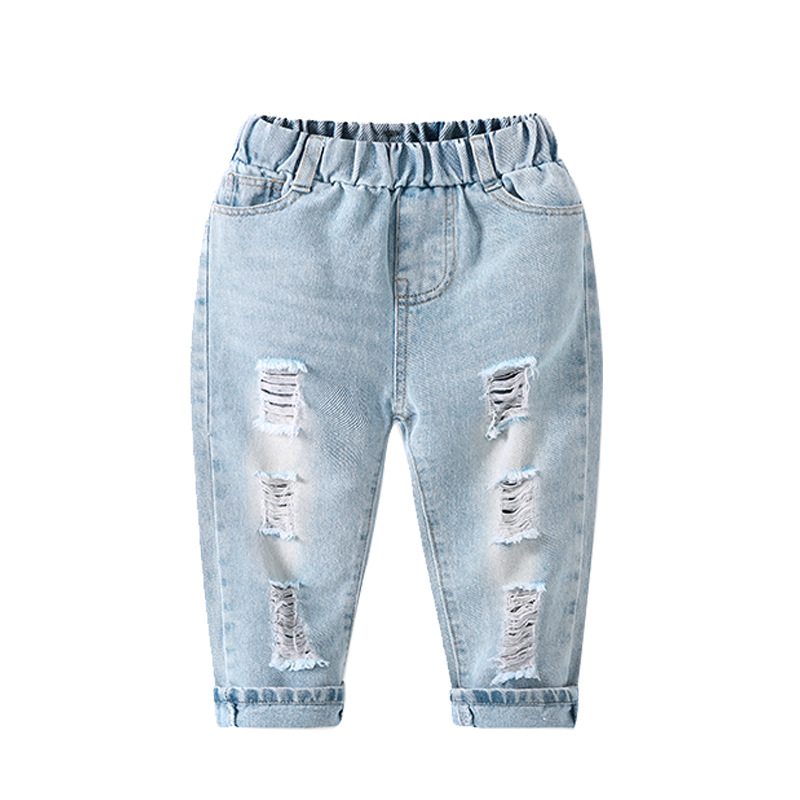 Children Clothing 2020 Summer Autumn Toddler Baby Boys Hole Jeans Casual Wild Fashion Pants Boys Jeans Kids Trousers 2 3 4 Year