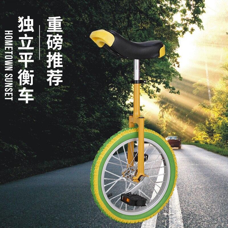 Equilíbrio único roda crianças adultos monociclo monocículo engraçado acrobacias equilíbrio bicicletas