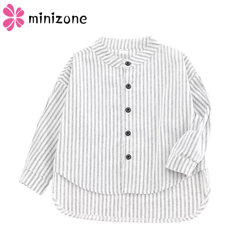 New Children <font><b>Boys</b></font> <font><b>Shirts</b></font> Fashion Classic Casual Striped O-Neck For 12M-<font><b>7</b></font> <font><b>Years</b></font> Kids <font><b>Boy</b></font> Spring/Autumn Wear Clothes Top 2019 MM08 image