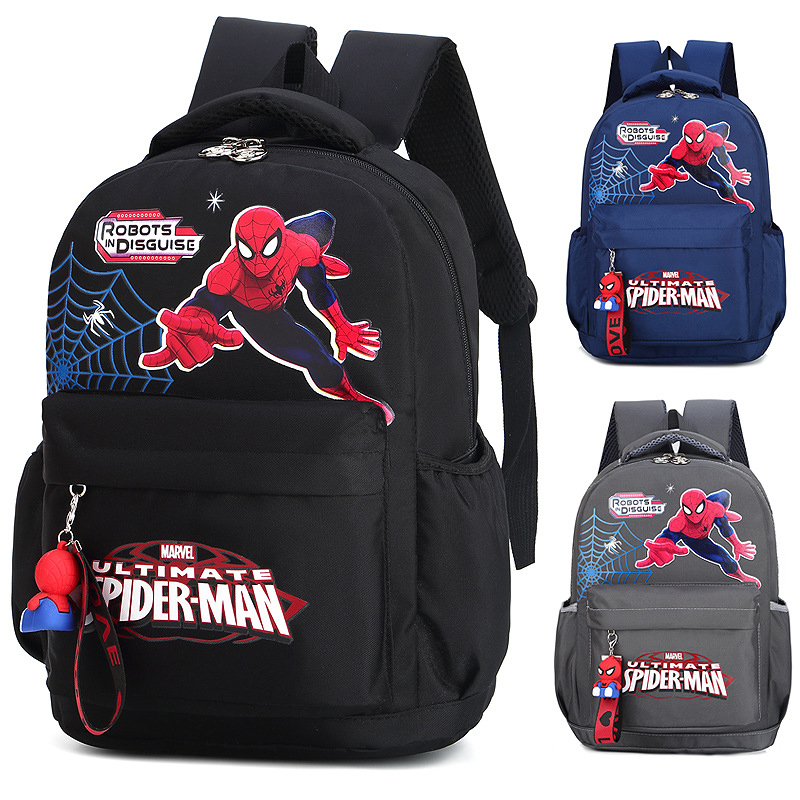 Large Capacity Children's Schoolbag High Quality Nylon Double Shoulder Travel Backpack  Spider-man Cute Cartoon Bag Mochila