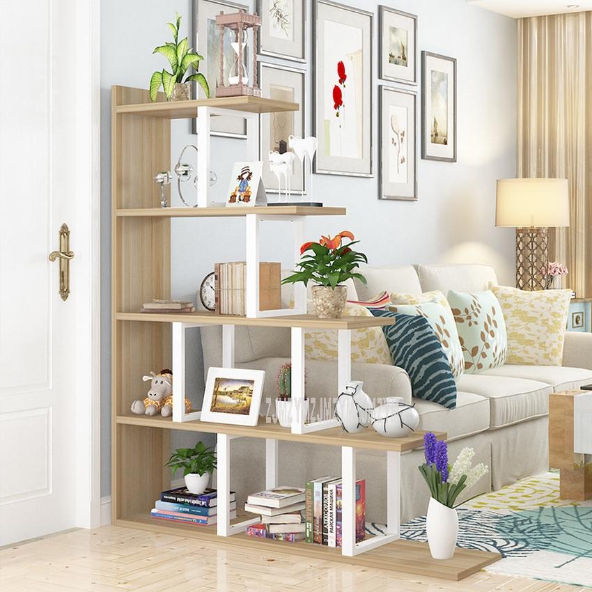Estantería de piso de 140cm en forma de paso, estantería de exhibición decorativa moderna para sala de estar, estante de madera organizador, estante del almacenaje L