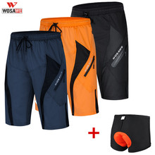 WOSAWE 2020 Mens Cycling Shorts Loose Fit Outdoor Sports MTB Mountain Bike Short  Bicycle Wear Riding Short Ropa Ciclismo
