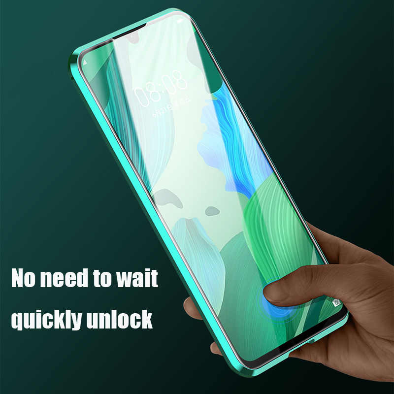 Funda de teléfono magnética de Metal de doble cara para Huawei Honor Mate 30 20 10 Lite P30 P20 Pro 8X 9X Y9 Prime P Smart Z 2019