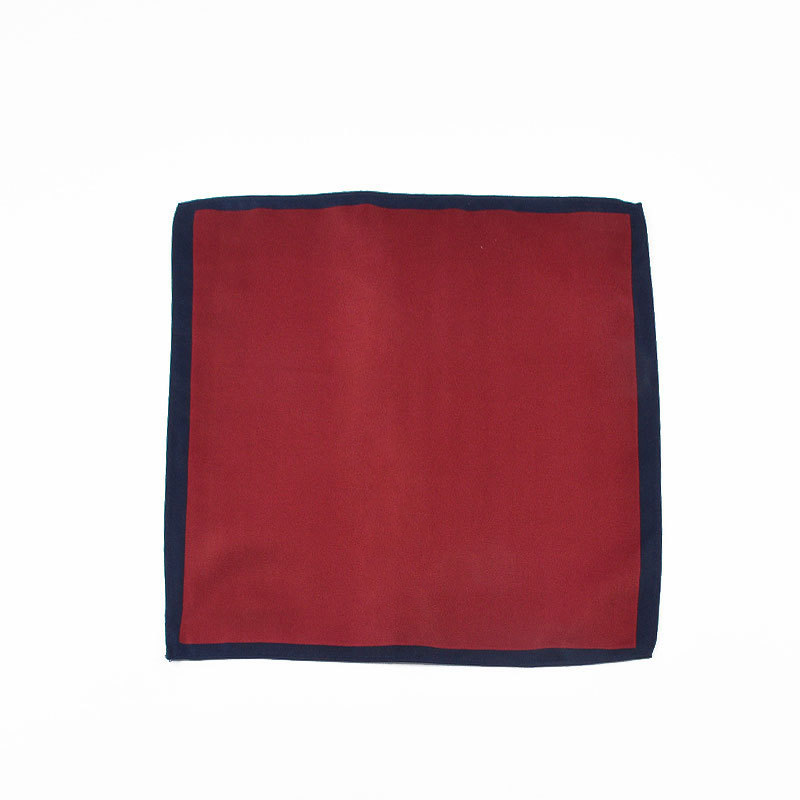 Men Pocket Square-Style Korean-style Solid Color Pocket Square Polyester Scarf Suit Kerchief