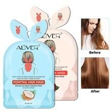 Hair Treatment Masks Nourishing Moisturizing Hair Anti-fork Anti-drying Ponytail Hair Mask Rose Coconut 15ml