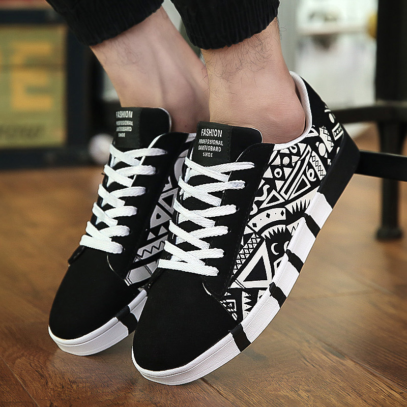 New Men Sneakers Casual Shoes Men Lovers Printing Fashion Flat Tenis Masculino Vulcanized Shoes Zapatos De Hombre