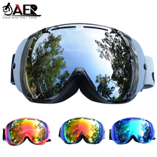 цены на JAER Brand Ski Goggles Men Women Snowboard Goggles Glasses for Skiing UV400 Protection Snow Skiing Glasses Anti-fog Ski Mask  в интернет-магазинах