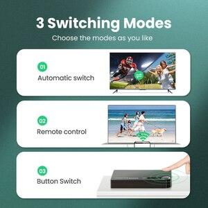 Image 5 - Ugreen HDMI anahtarı 3D HD4K 3 port HDMI adaptörü Splitter PS4 projektör Xbox dizüstü IR uzaktan kumanda ile HDMI hub