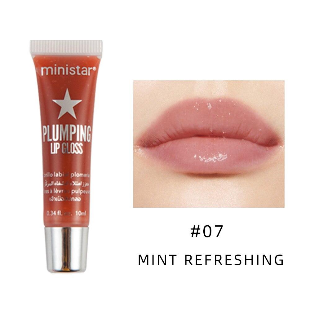 שפתון נוזלי שמנמן מבריק קרם לחות ג'לי ליפ גלוס 9 צבעים ברורים ליפ גלוס לחות שמן ליפ גלוס איפור יופי 8