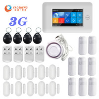 3G Version TFT All Touch Screen WIFI GPRS Wireless APP Remote Control Smart Home Security Alarm Systems For IOS/Android System