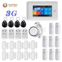 Versión 3G TFT toda la pantalla táctil WIFI GPRS inalámbrico APP Control remoto inteligente hogar seguridad sistemas de alarma para IOS /sistema Android