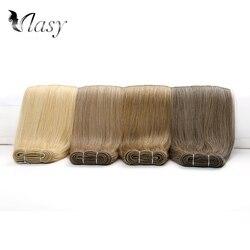 Vlasy extensiones de cabello recto europeo Natural dibujado de 20 pulgadas, extensiones de trama de cabello Remy de Color puro, 100g/PC