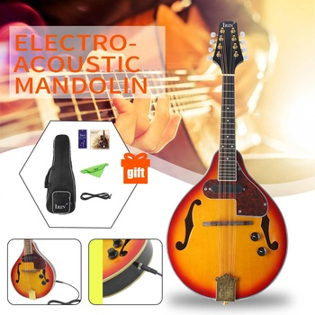 Rosewood 8-String Electric Mandolin A Style Rosewood Fingerboard Adjustable String Instrument with Cable Strings Picks Bag фото