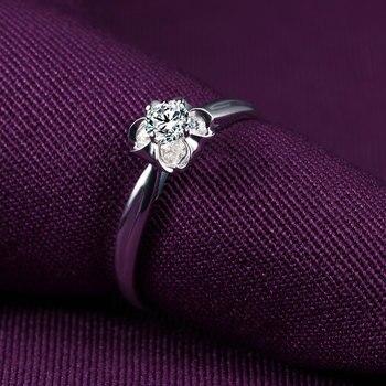 18K Gold And White Gold Platinum Wedding Couple Diamond Ring Men And Women Models Rose Gold Gold Diamond Ring A Carat Genuine 3