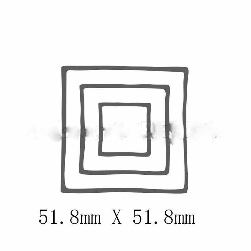 Matryce do cięcia metalu rama kwadratowy cut foremka szablon księga gości robienie kartek papierowe rzemiosło forma do noża umiera nowy 2019 diecuts