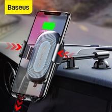 BASEUS 10W Qi Wireless Car Charger สำหรับ iPhone X 8 8Plus แรงโน้มถ่วงรถผู้ถือโทรศัพท์ FAST Charger สำหรับ Samsung S9 S8