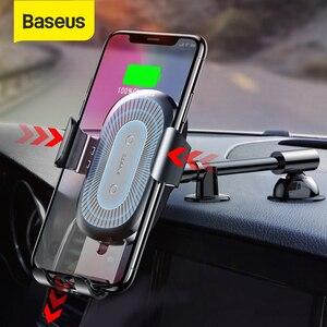 Image 1 - BASEUS 10W Qi Wireless Car Charger สำหรับ iPhone X 8 8Plus แรงโน้มถ่วงรถผู้ถือโทรศัพท์ FAST Charger สำหรับ Samsung S9 S8