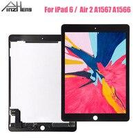 PINZHENG 9.7 인치 AAAA LCD iPad 6 공기 2 A1567 A1566 디스플레이 터치 스크린 디지타이저 어셈블리 교체 디스플레이 LCD