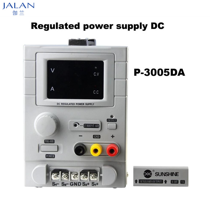 Sunshine P-3005DA 30V 5A Regulated power supply DC Mobile Phone Repair 4 digital display Intelligent Power Source
