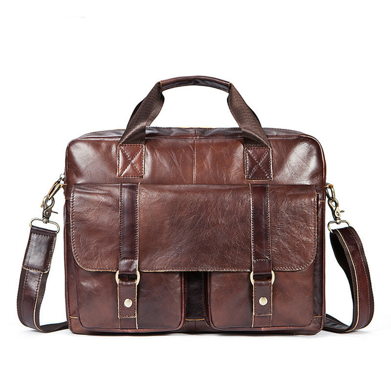 2020 Genuine Messenger Bag Men Leather Male Package Leisure Time Business Affairs Briefcase Man Single Shoulder Oblique Satchel