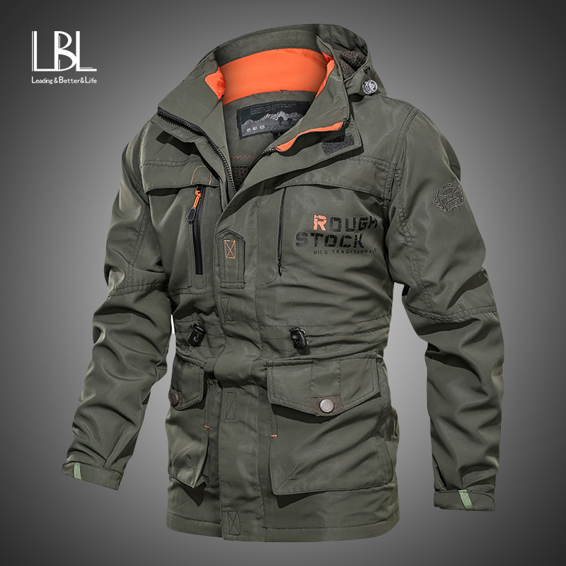 Mens Military Jackets 2019 Autumn Coats Fashion Army Jackets Casual Outerwear Male Bomber Jacket Men Overcoats Brand Clothing