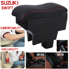 For Suzuki swift Armrest Box Universal Car Central Armrest Storage Box cup holder ashtray modification accessories commercial car hight quality car armrest box storage for nv200 armrest box nv200