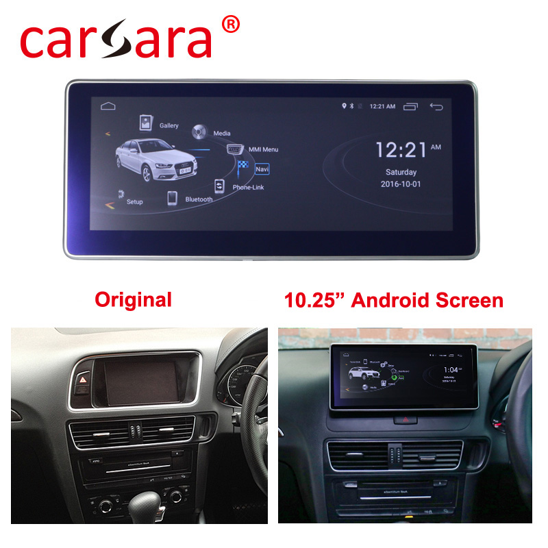 Right Hand Drive Audi Q5 SQ5 2009 2016 Android Headunit Screen Entertainment System with 4G RAM 64G ROM
