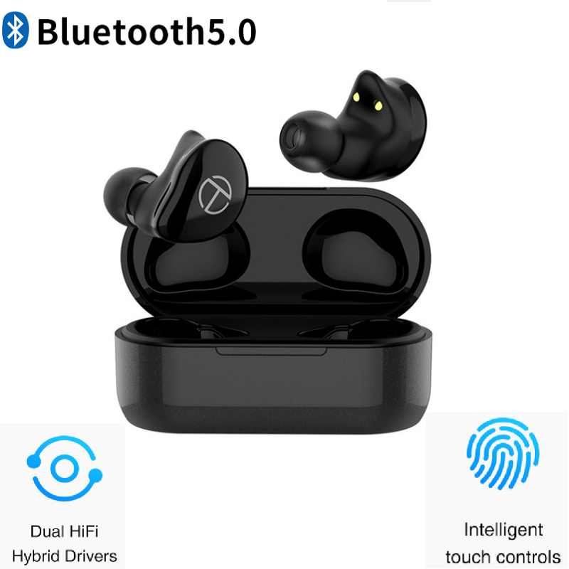 <font><b>TRN</b></font> <font><b>T200</b></font> <font><b>TWS</b></font> Bluetooth 5.0 QCC3020 Touch control IPX5.0 Hybrid Drivers Earphone Support Aptx/AAC/SBC Apt-x V5.0 image
