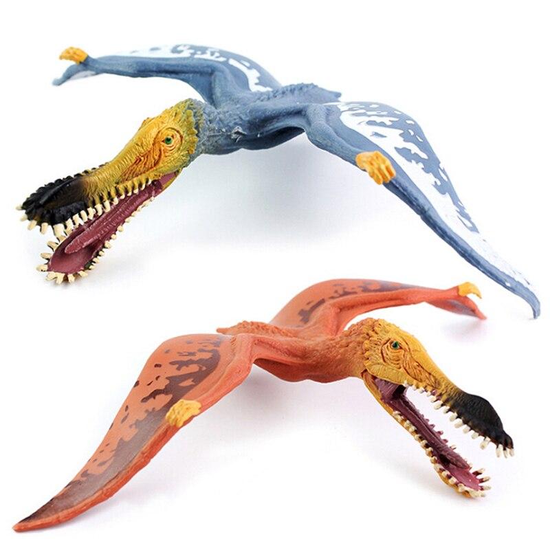 1 шт. Детский динозавр игрушка Юрского периода Птерозавр динозавр имитационная модель цельный пластмассовый игрушечный динозавр фигурки