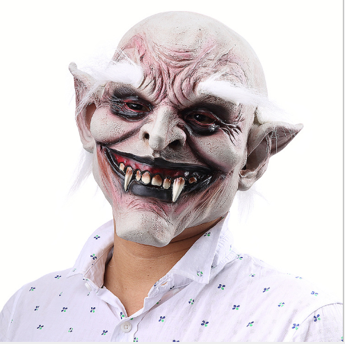 White Eyebrow Old Demon Halloween Horror Devil Mask Vampire Trade Haunted House Costumes