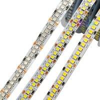 Tira de luces LED de alto brillo DC12V, 5m, 120 LED/M, 240 LEDs/M, 2835 SMD, luz blanca/blanca cálida/roja/Verde/azul, cinta Flexible para lámpara IP20/IP65
