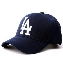 Nova moda bordado carta la boné de beisebol unisex hip-hop chapéu masculino e feminino ao ar livre casual ajustável sunshade snapback hat