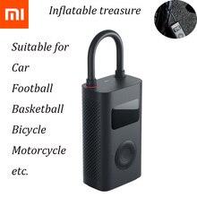 Yeni Xiaomi Mijia taşınabilir akıllı dijital lastik basıncı algılama elektrikli şişirme pompası bisiklet motosiklet araba için futbol