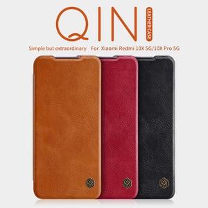 Image 1 - Для xiaomi Redmi Note 9 Pro флип чехол Примечание 10 Lite корпус NILLKIN Qin с просыпающимся Смарт кошелек кожаный чехол для телефона Redmi Note 8 10X 5G