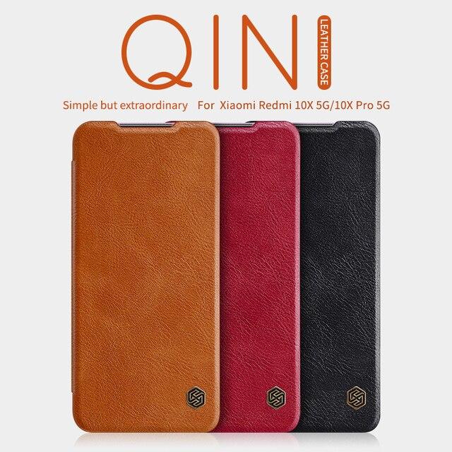 Для xiaomi Redmi Note 9 Pro флип чехол Примечание 10 Lite корпус NILLKIN Qin с просыпающимся Смарт кошелек кожаный чехол для телефона Redmi Note 8 10X 5G