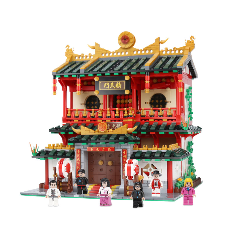 DHL 01004 Building ชุดของเล่นศิลปะการต่อสู้จีนชุดเด็ก Building Blocks อิฐประกอบของเล่นเด็กรุ่น-ใน บล็อก จาก ของเล่นและงานอดิเรก บน   2