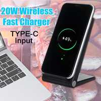 LEORY Qi Wireless Charger 20W Phone Charger Wireless Fast Charging Dock Cradle Charger for all Smart phone