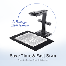 CZUR Book Scanner ET16 Plus High Speed 16MP, Max A3 Size Document Support OCR Function Compatible with Windows Mac for Office