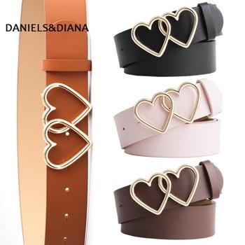New Fashion Female Leather Belt Women Metal Buckle Stylish Ladies Vintage Heart Buckle Leisure Leather Belt Trouser Accessories цена 2017