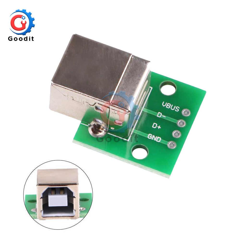 1 sztuk kwadratowych USB, aby zanurzyć płytka przyłączeniowa gniazdo żeńskie Inline B typ kwadratowy interfejs połączenia drukarki adapter do kabla danych
