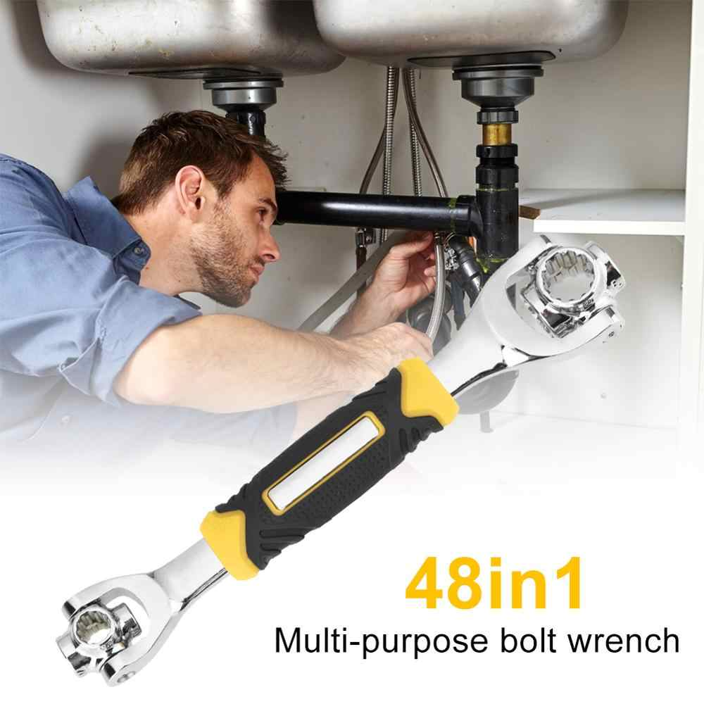 חדש אוניברסלי 360 תואר 48 ב 1 כלים שקע פלדת נמר ברגים עם שגם ברגי Torx 6-נקודת ריהוט רכב תיקון יד כלים