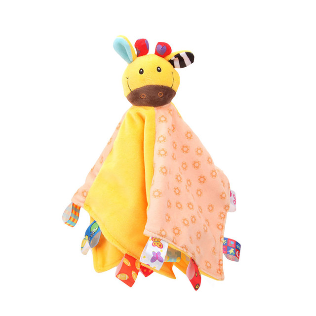 Cute Animal Stuffed Baby Toys 0 -12 Months Baby Comforter Soothing Towel Baby Rattle Toys Comfort Sleeping Plush Toys For Babies 2
