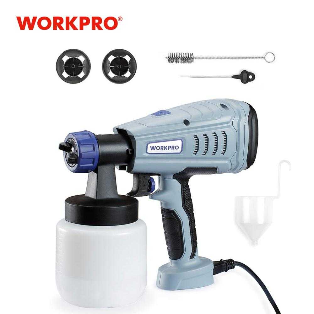 WORKPRO 550W Electric Paint Spray Gun for Home DIY Painting Sprayer High Power Electric Paint Sprayer